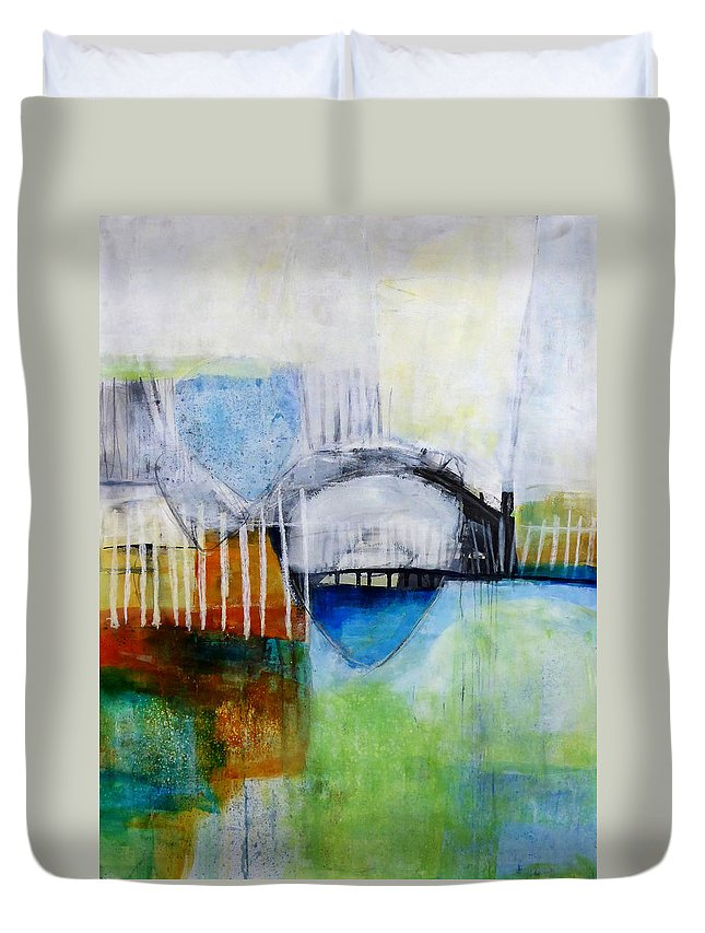 Keywords: Abstract Duvet Cover featuring the painting Fogo Island 2 by Jane Davies