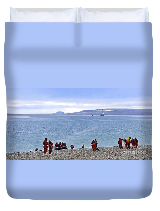 Northwest Passage Duvet Cover featuring the photograph Following The Footsteps Of Roald Amundsen.. by Nina Stavlund