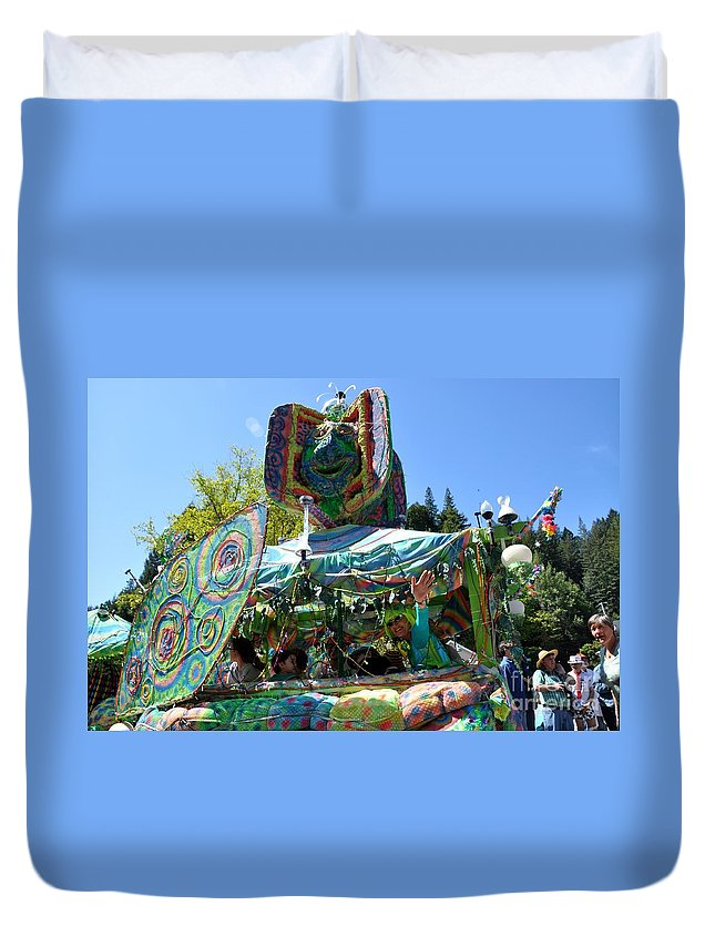 Occidental Duvet Cover featuring the photograph Fools Float by Christina McKinney