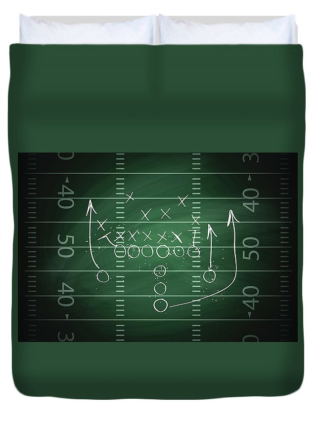 Plan Duvet Cover featuring the digital art Football Play by Traffic analyzer
