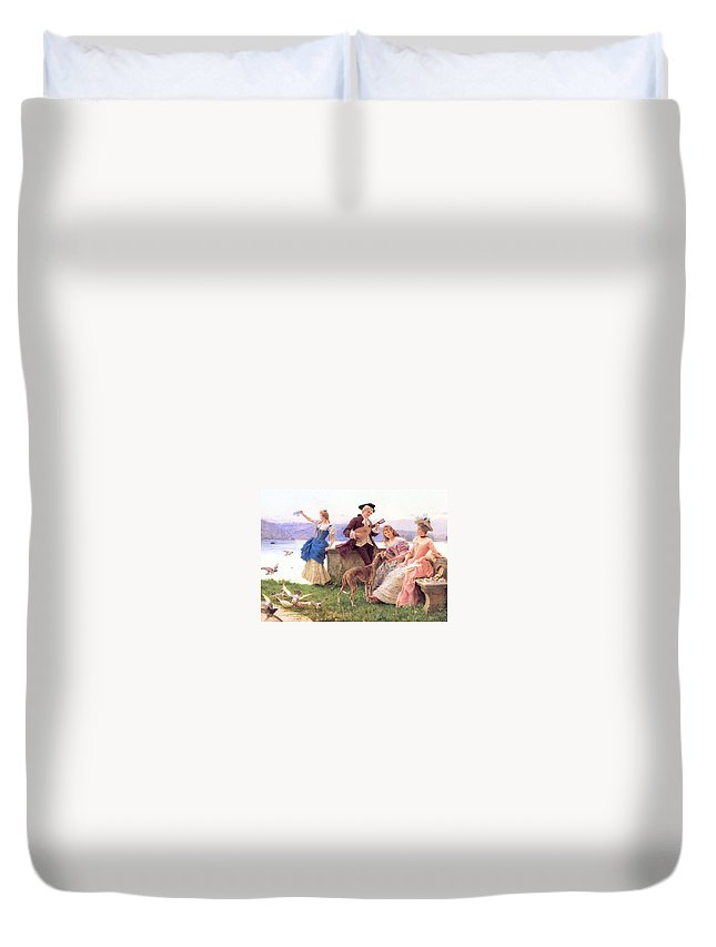 Andreotti Federico Duvet Cover featuring the painting For A Day S Outing by MotionAge Designs