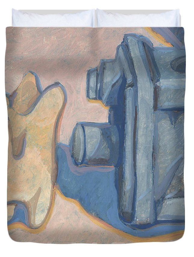 Foramens Duvet Cover featuring the painting Foramens by Richard Glen Smith