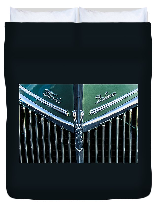 Ford Deluxe V8 Duvet Cover featuring the photograph Ford Deluxe V8 by Jill Reger