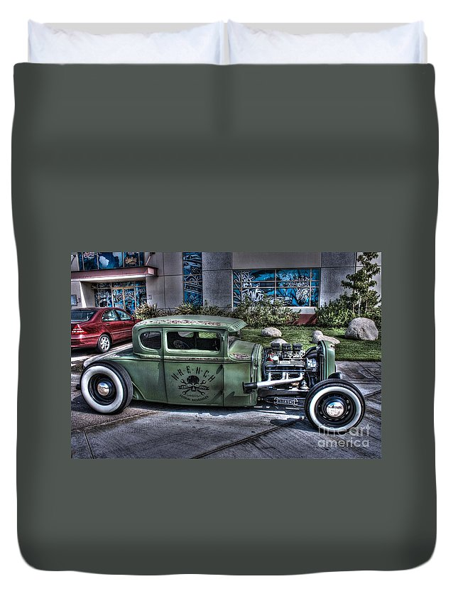 1931 Ford Model A Coupe Duvet Cover featuring the photograph Ford Hot Rod by Tommy Anderson