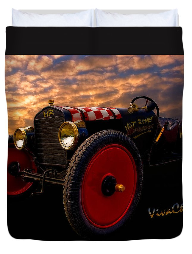Ford Duvet Cover featuring the photograph Ford Hot Rodney Special by Chas Sinklier