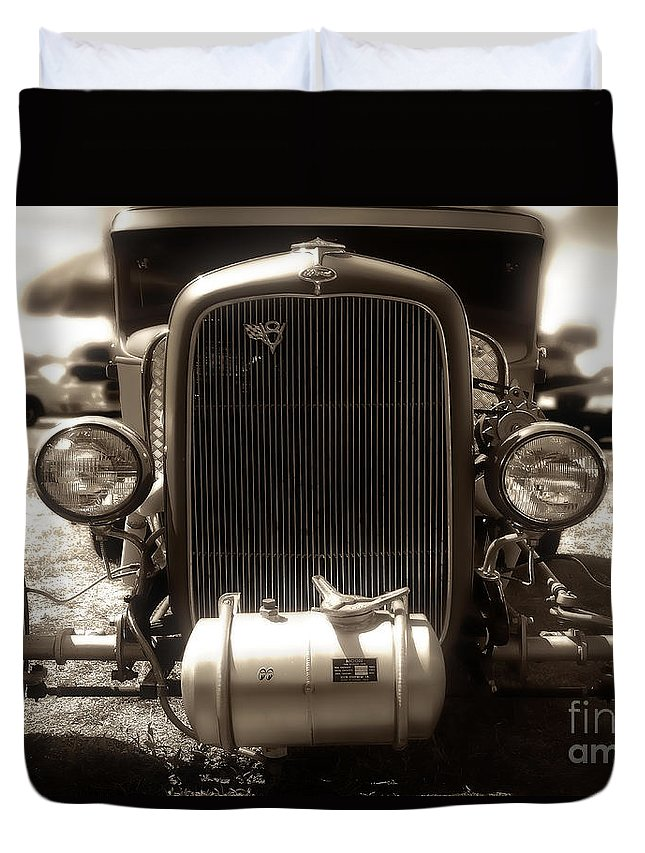 1935 Duvet Cover featuring the photograph Ford Rod by Joshua Roberts
