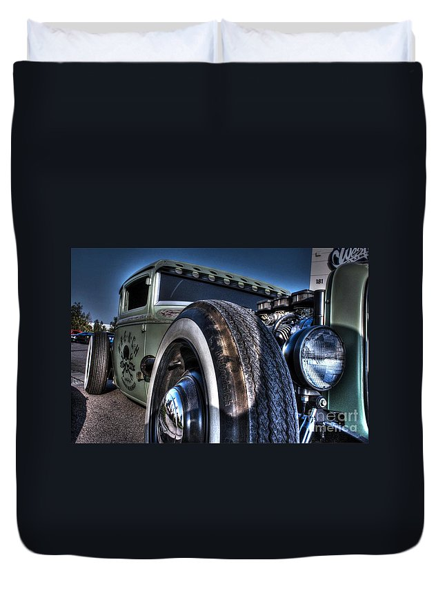 1931 Ford Model A Coupe Duvet Cover featuring the photograph Ford Street Rod by Tommy Anderson