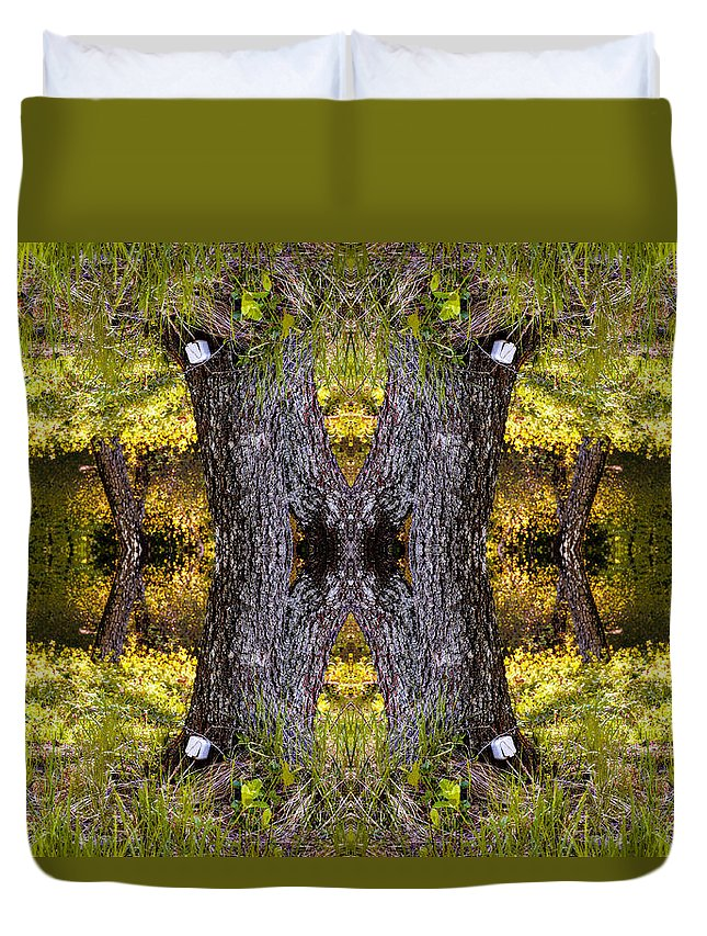 Socket Duvet Cover featuring the photograph Forest Disaster C by Yevgeni Kacnelson