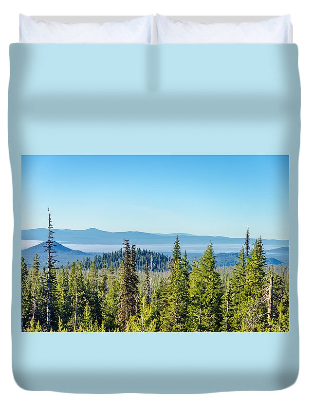 Forest Duvet Cover featuring the photograph Forest Landscape by Jess Kraft