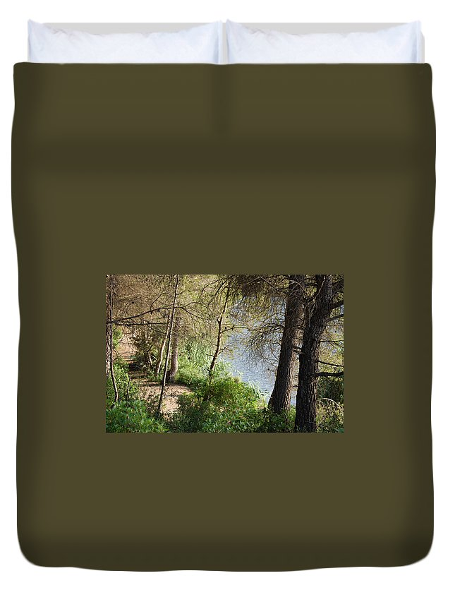Road Duvet Cover featuring the photograph Forest Road by Gina Dsgn