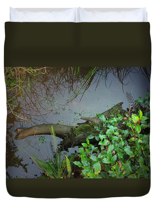 Forest Duvet Cover featuring the photograph Forest Wetlands I by Joyce Dickens