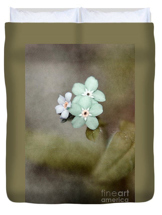 Flowers Duvet Cover featuring the photograph Forget Me Not 03 - S07bt07 by Variance Collections