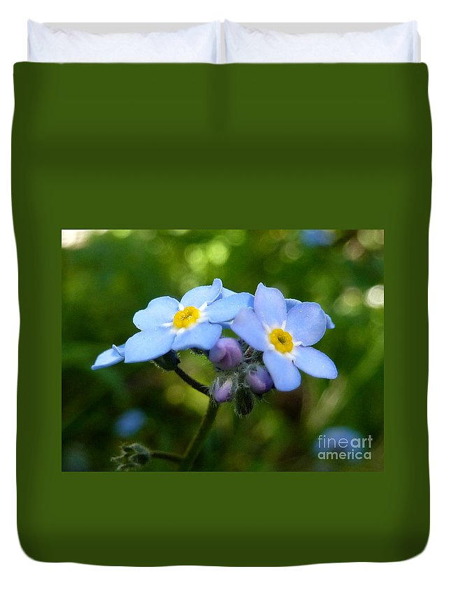 Forget-me-not Duvet Cover featuring the photograph Forget-me-not by Rain Shine