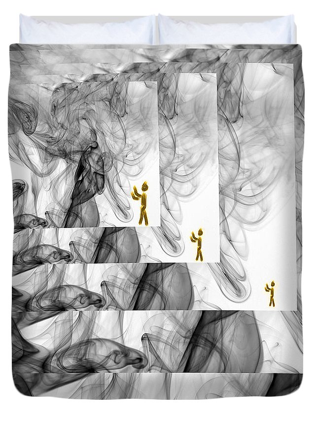 Smoke Duvet Cover featuring the photograph Forgetting Smoke Photography by Sabine Jacobs