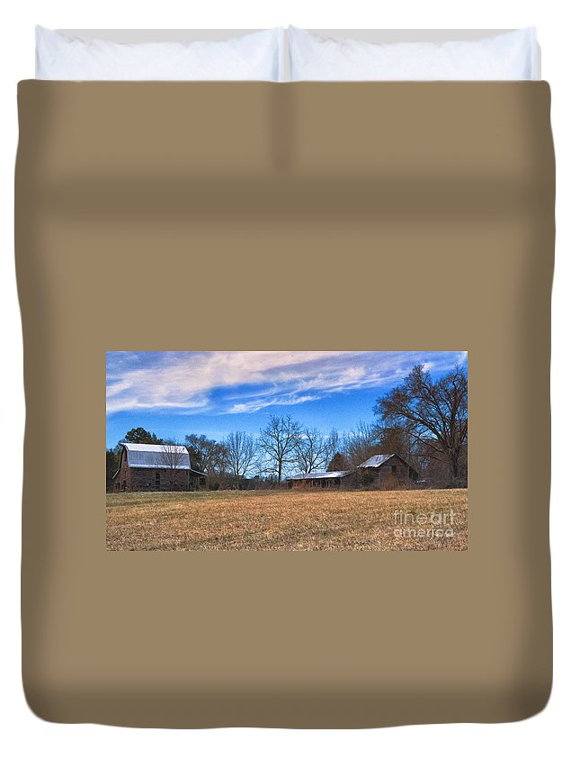 Time Duvet Cover featuring the photograph Forgotten by Scott Hervieux