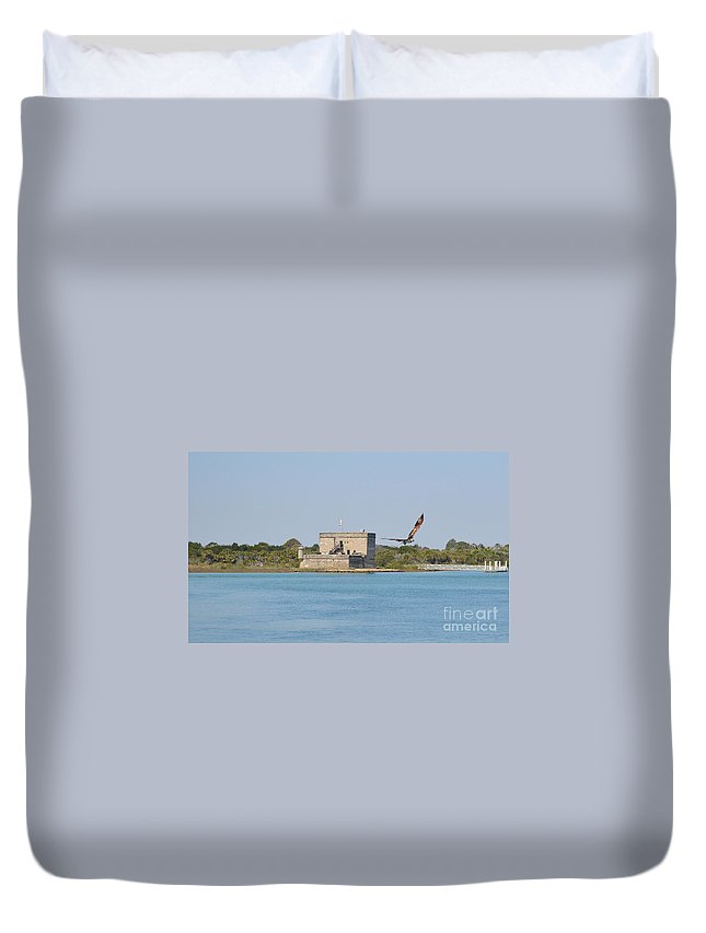Fort Matanzas Duvet Cover featuring the photograph Fort Matanzas by Meandering Photography