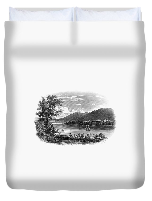1847 Duvet Cover featuring the painting Fort Ticonderoga Ruins by Granger
