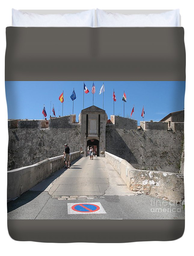Fortress Duvet Cover featuring the photograph Fortress by Christiane Schulze Art And Photography
