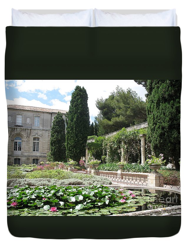 Fortress Duvet Cover featuring the photograph Fortress Garden Villeneuve Les Avignon by Christiane Schulze Art And Photography