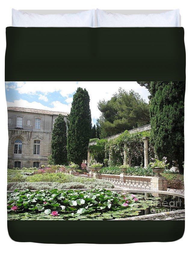 Fortress Duvet Cover featuring the photograph Fortress Garden Villeneuve Les Avignon by Christiane Schulze Art And Photography