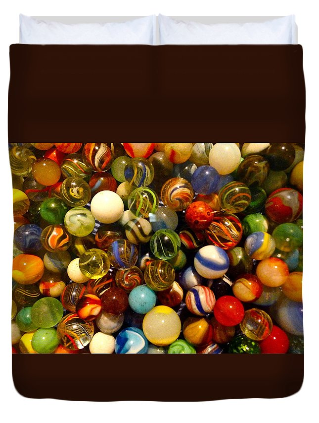 Marble Duvet Cover featuring the photograph Found My Marbles by Denise Mazzocco