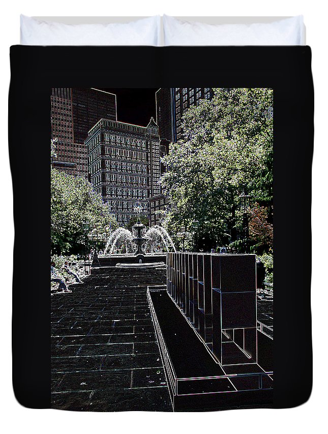 Fountain Duvet Cover featuring the photograph Fountain Abstract by Christiane Schulze Art And Photography