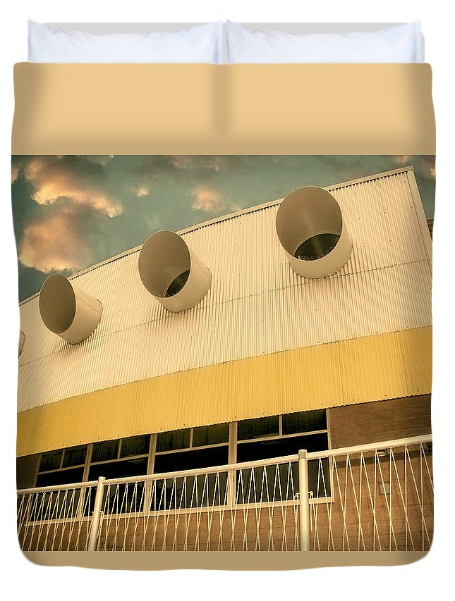 Palm Springs Duvet Cover featuring the photograph Four By Sea Vintage North Shore Yacht Club Salton Sea by William Dey