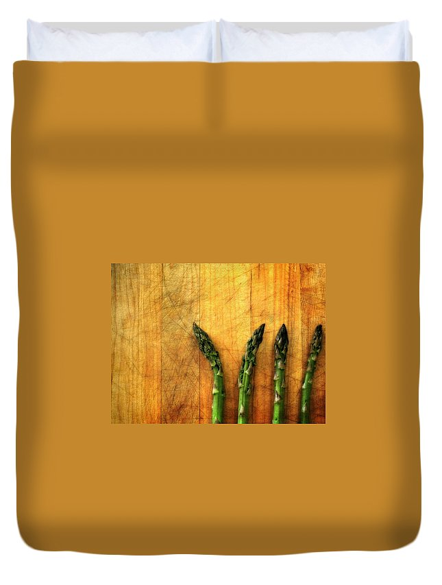 Cooking Duvet Cover featuring the photograph Four In A Row by Michelle Calkins