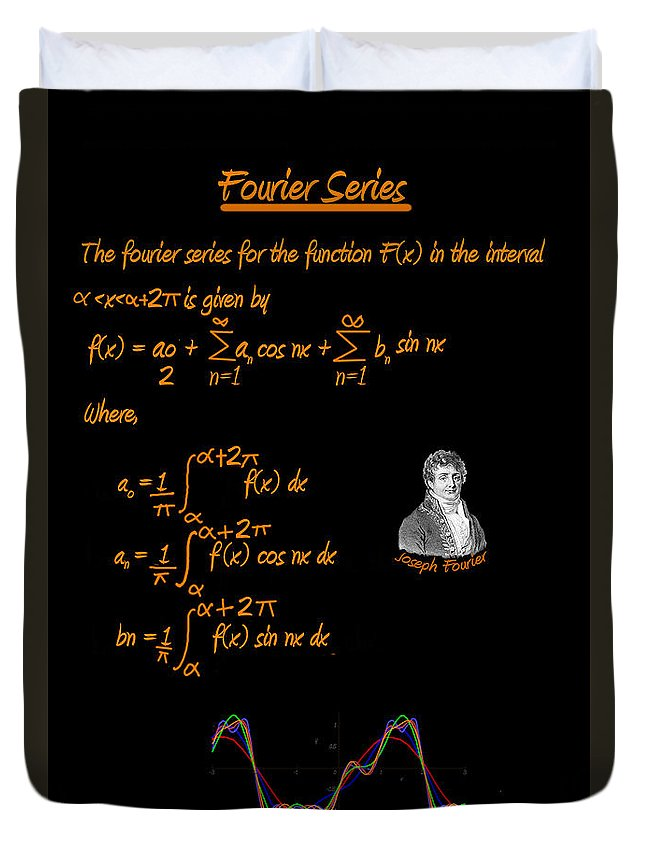 Fourier Series Duvet Cover featuring the photograph Fourier Series by Artist Nandika Dutt