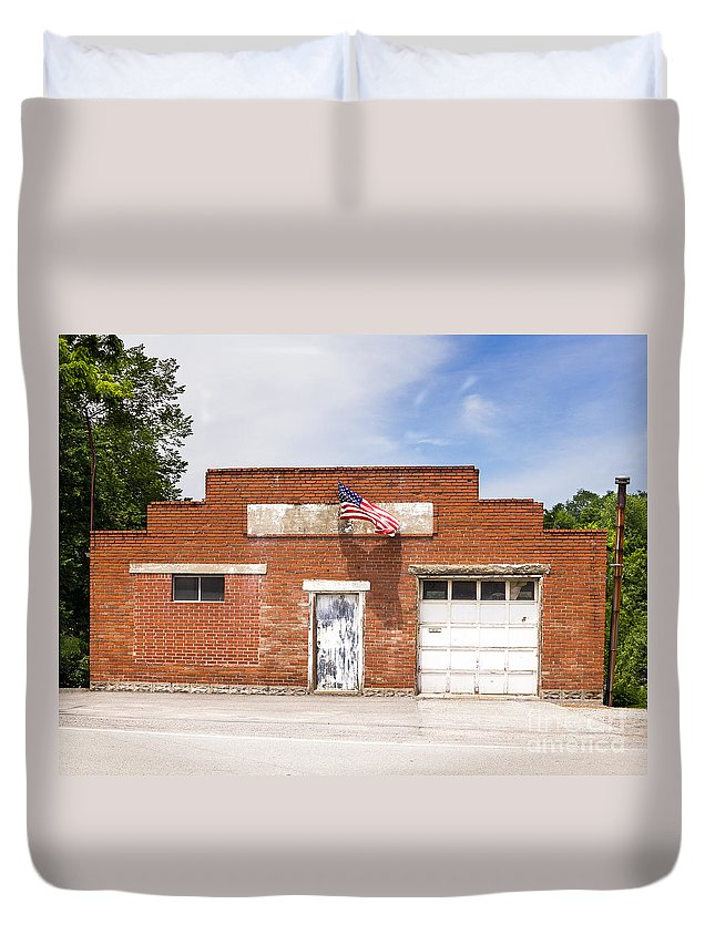 History Duvet Cover featuring the photograph Fourth Of July by John Waclo