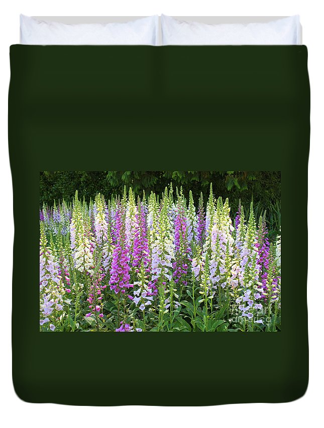 Garden Duvet Cover featuring the photograph Foxglove Garden In Golden Gate Park by Carol Groenen