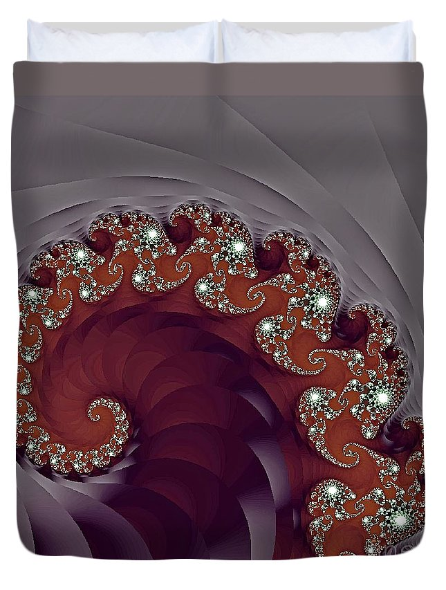 Fractal Duvet Cover featuring the photograph Bejeweled Tentacle by Lena Photo Art
