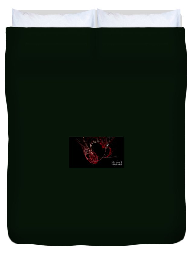 Digital Art Duvet Cover featuring the digital art Fractal 26 Garvbage by Alys Caviness-Gober