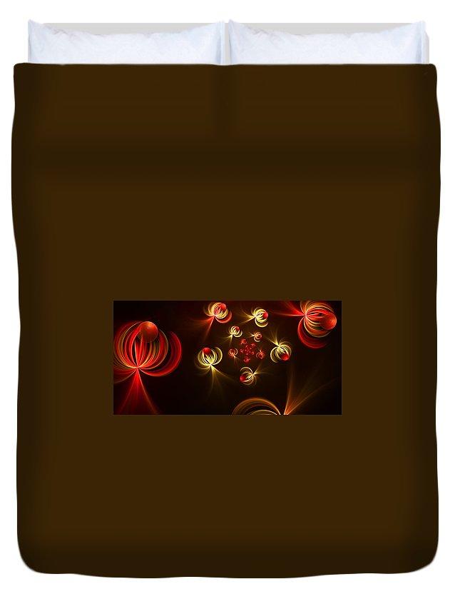 Fractal Duvet Cover featuring the digital art Fractal Dream Catcher by Gabiw Art