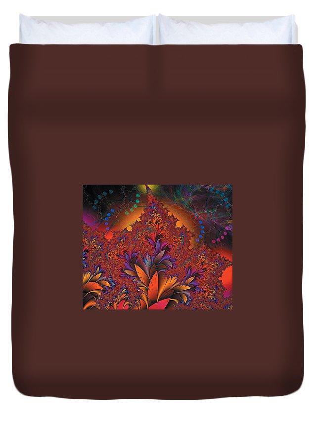 Fractal Duvet Cover featuring the digital art Fractal Space by Melinda Fawver