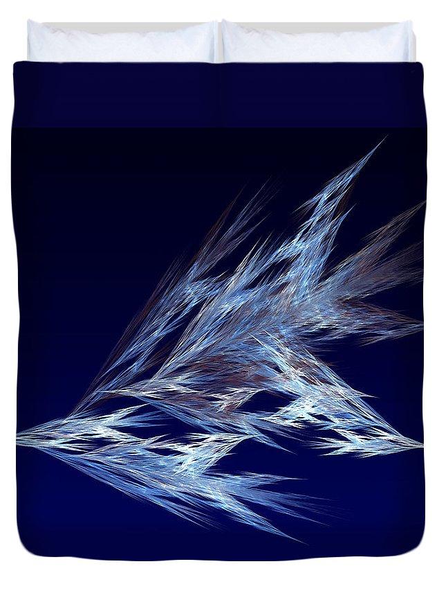 Fractal Duvet Cover featuring the digital art Fractals - Birds In Flight by Susan Savad