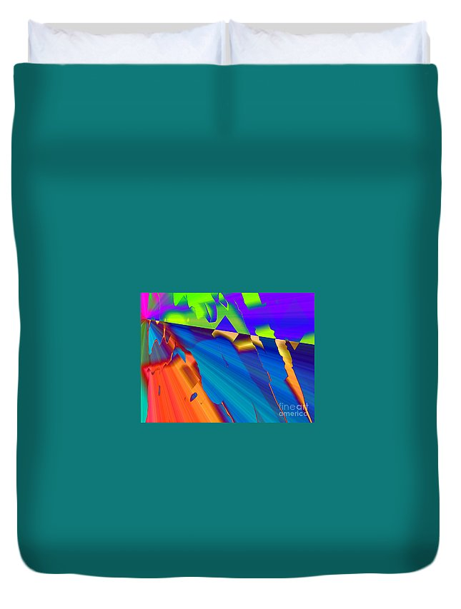 Fractures Duvet Cover featuring the digital art Fractures by Kristi Kruse