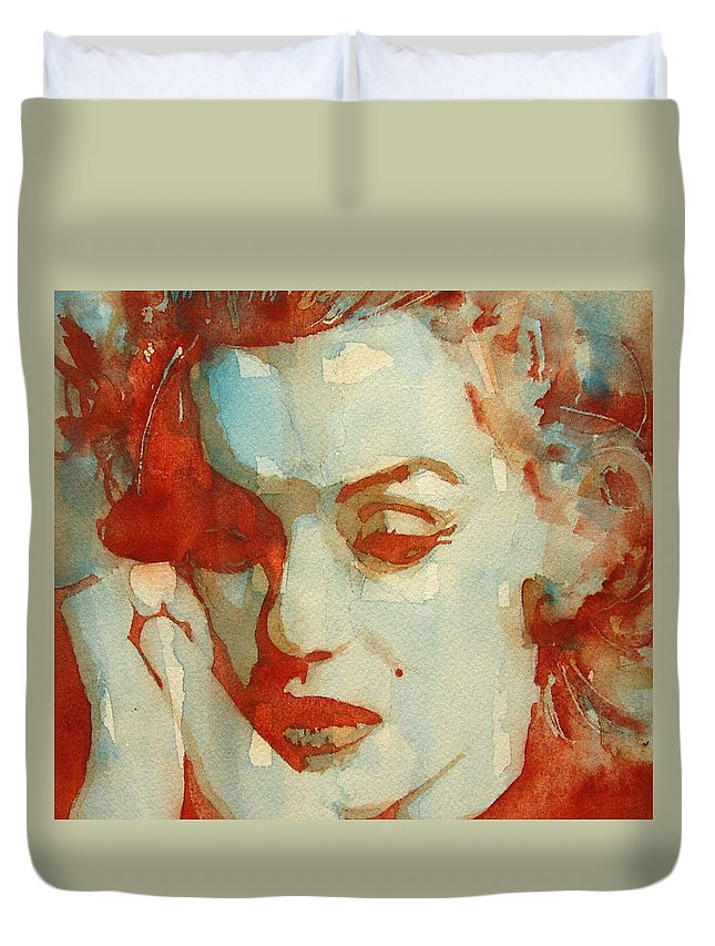 Marilyn Monroe Duvet Cover featuring the painting Fragile by Paul Lovering