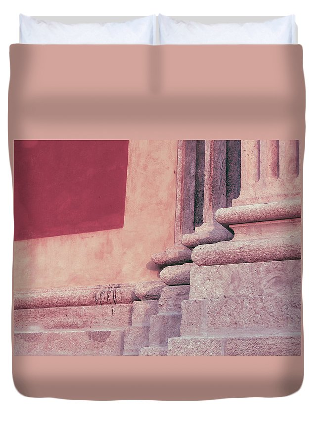 Abstract Duvet Cover featuring the photograph Fragment by A Rey