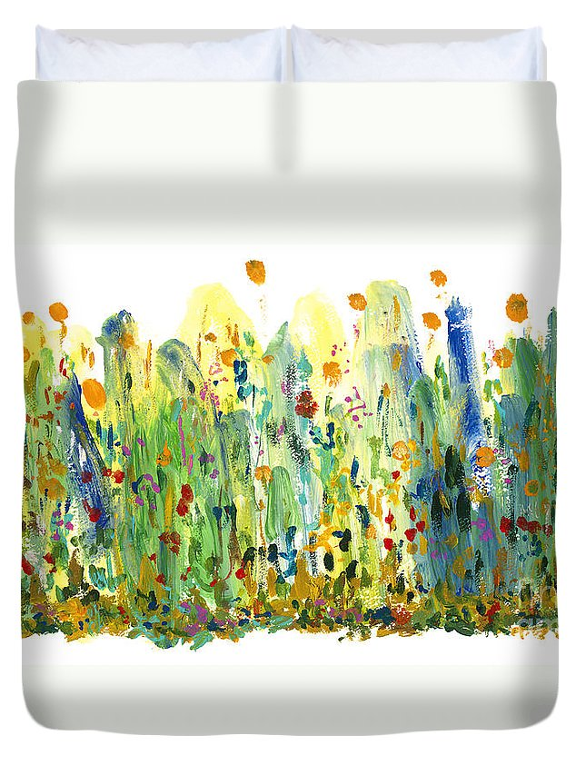Fragrance Duvet Cover featuring the painting Fragrance by Bjorn Sjogren