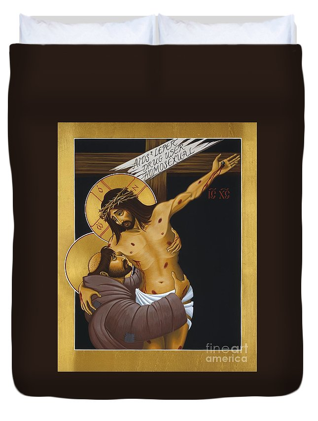 St. Francis Duvet Cover featuring the painting Francis 'neath The Bitter Tree 006 by William Hart McNichols