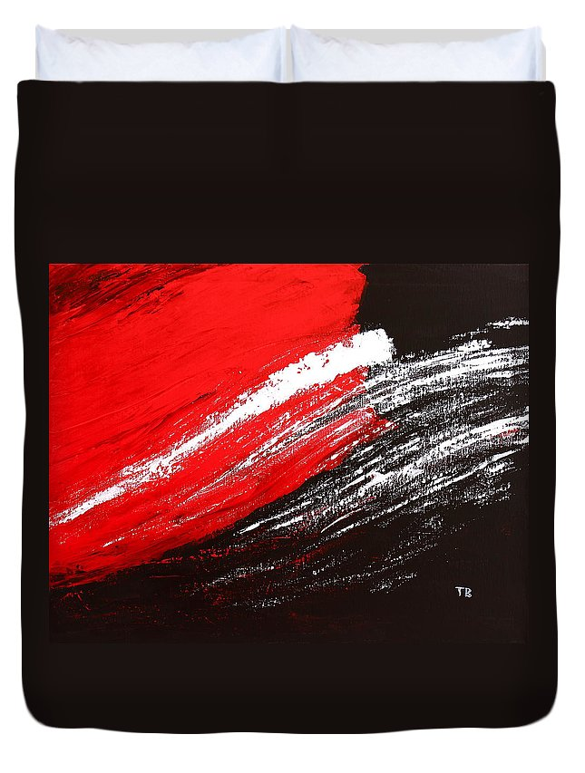 Free Duvet Cover featuring the painting Free Spirit 1 by Kume Bryant