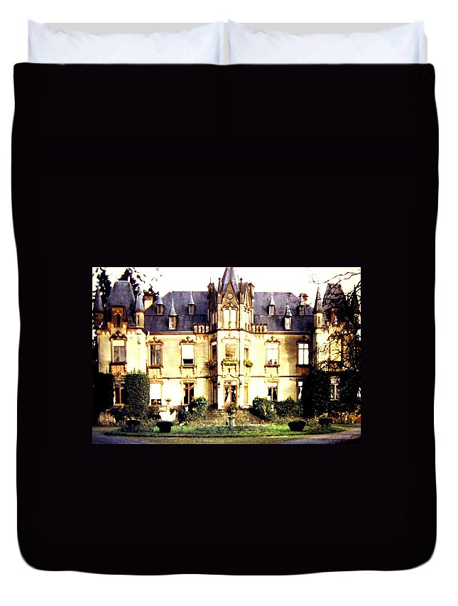 French Chateau 1955 Duvet Cover featuring the photograph French Chateau 1955 by Will Borden