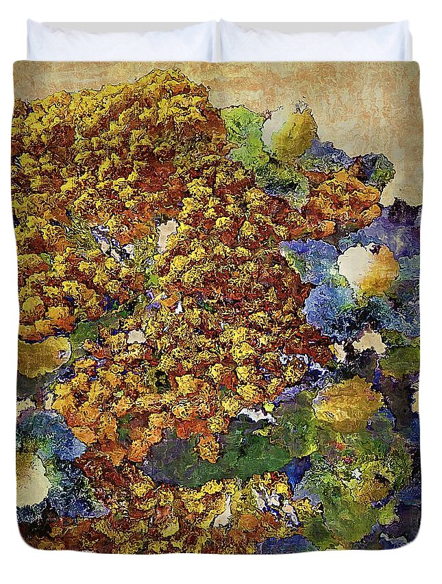 Tansy Duvet Cover featuring the painting French Country Print by RC DeWinter