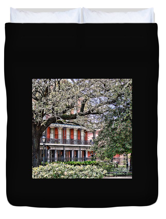 New Duvet Cover featuring the photograph French Quarter Spring by Olivier Le Queinec