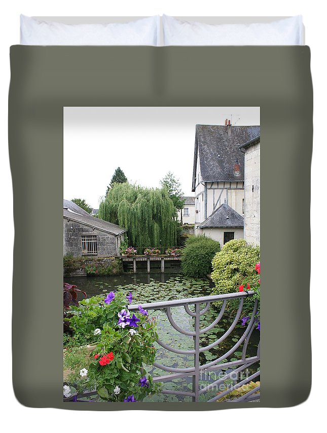 Village Duvet Cover featuring the photograph French Village by Christiane Schulze Art And Photography