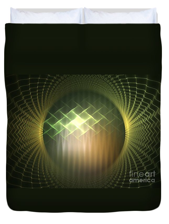 Apophysis Duvet Cover featuring the digital art Frequency Modulation by Kim Sy Ok