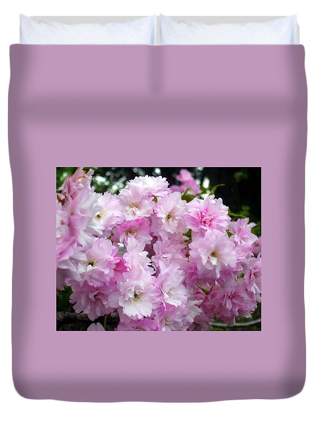 Flower Duvet Cover featuring the painting Fresh Beginnings by Cathy Jacobs