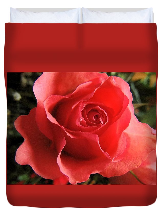 Rose Duvet Cover featuring the photograph Fresh by Natasha Anderson