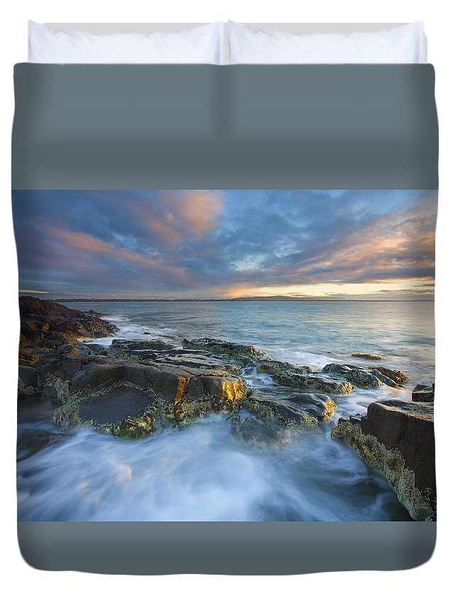 Freycinet Duvet Cover featuring the photograph Freycinet Cloud Explosion by Mike Dawson